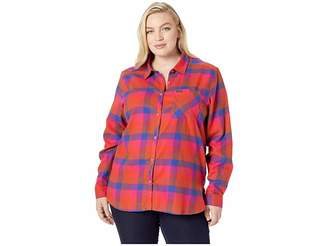 Columbia Plus Size Simply Puttm II Flannel Shirt
