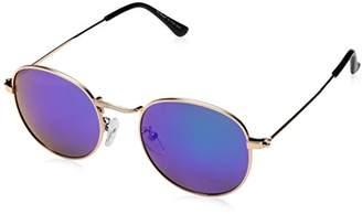 ee77b1f62b A. J. Morgan A.J. Morgan Deliverance Round Sunglasses Gold Blue Mirror