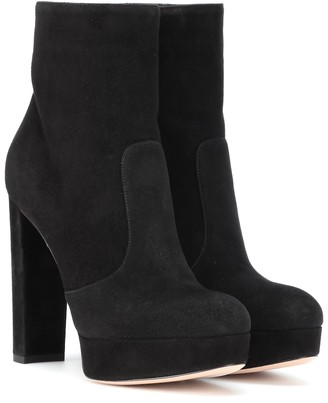 Gianvito Rossi Brook plateau suede ankle boots