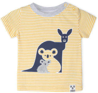 Sprout NEW Boys Applique T/Shirt Mustard