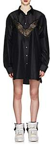 Maison Margiela Women's Lace-Inset Silk Shirtdress - Black