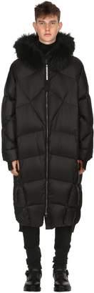 Long Goose Down Jacket W/ Fur