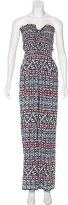 Tory Burch Printed Wide-Leg Jumpsuit