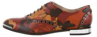 Michalsky x MCM Visetos Embellished Oxfords