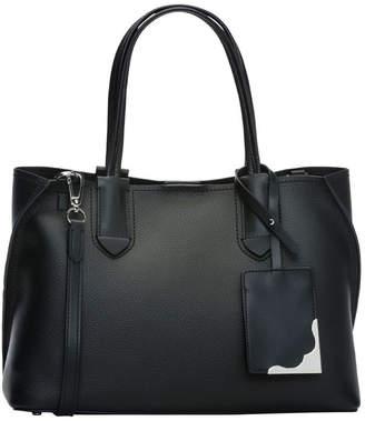 Calvin Klein H8Jar9Cs_Black/Silver Jacky Double Handle Tote Bag