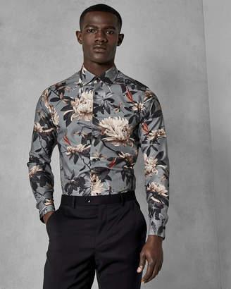 Ted Baker PEPPAR Global print cotton shirt