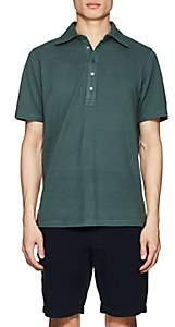 Piattelli MEN'S COTTON PIQUÉ POLO SHIRT - GREEN SIZE L