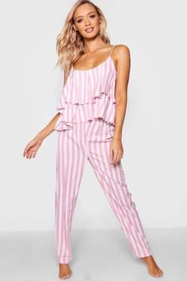 boohoo Ruffle Cami Trouser Set
