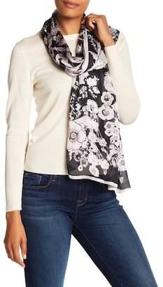 Roberto Cavalli Floral Silk Scarf