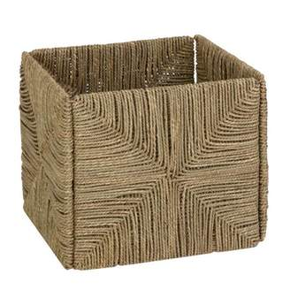 Honey-Can-Do Folding Seagrass Cube Storage Bin, Brown
