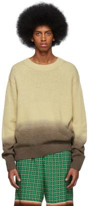 Dries Van Noten Beige and Brown Degrade Nairobi Sweater