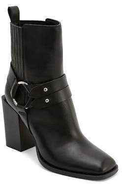 Dolce Vita Women's Isara Leather Harness Block Heel Booties
