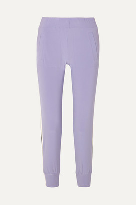 Norma Kamali Striped Stretch-jersey Track Pants