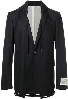 Diesel hybrid hoodie blazer
