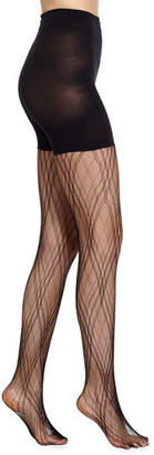Spanx Plaid Lace Tights, Very Black