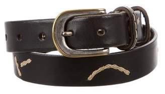 Henry Beguelin Leather Buckle Belt
