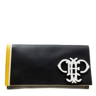 Emilio Pucci Black Leather Clutch Bag