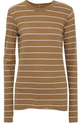 Enza Costa Striped Cotton And Cashmere-Blend Top