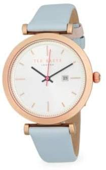 Ted Baker Ava Stainless Steel and Leather Strap Bracelet Watch