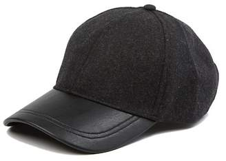David & Young Faux Wool Baseball Cap