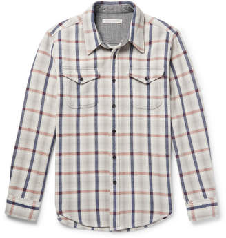 Outerknown Checked Organic Cotton-Twill Shirt