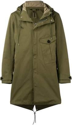 Ten C hooded parka coat