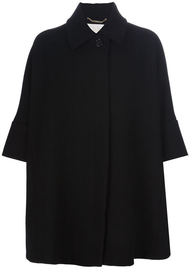 Chloé oversized cape-style coat