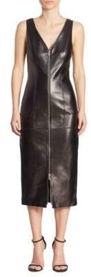 Michael Kors Midi Leather Dress
