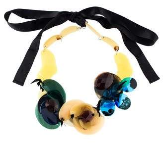 Marni Resin & Leather Collar Necklace
