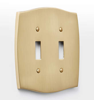Rejuvenation Colonial Double Toggle Switchplate