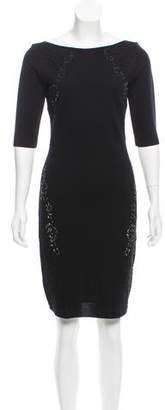 Blumarine Virgin Wool Embellished Dress w/ Tags