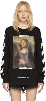 Off-White Black and White Diagonal Monalisa T-Shirt