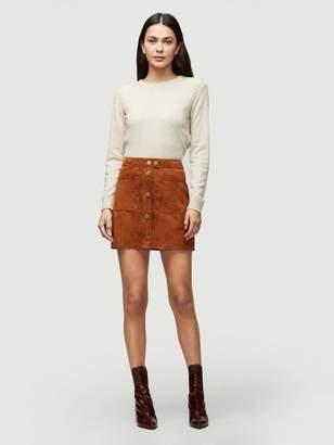 Frame Suede Patch Pocket Skirt