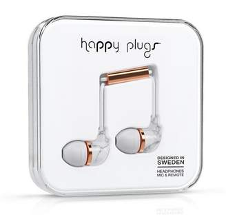 Happy Plugs In-Ear - Carrara White Marble Rose