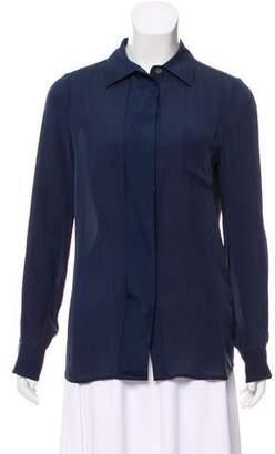Closed Silk Long Sleeve Top w/ Tags