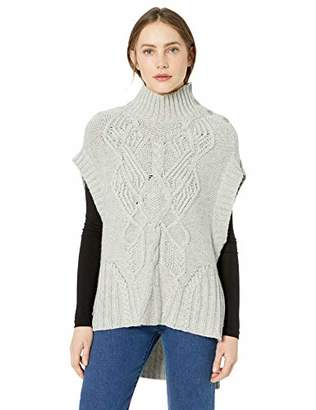 BCBGMAXAZRIA Women's Cable Knit Turtleneck Sweater
