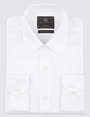 Marks and Spencer 2in Longer Cotton Rich Easy to Iron Shirt