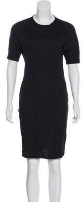Saint Laurent Knee-Length Short Sleeve Dress