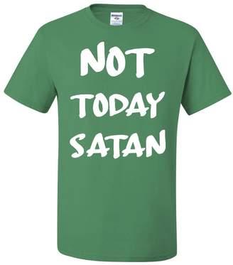 Tee Hunt Not Today Satan T-Shirt Religious Funny Jesus Religion Faith Tee 4XL