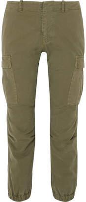 Nili Lotan Cropped Cotton-blend Twill Tapered Pants - Green