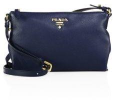 Prada Vit Daino Leather Crossbody Bag