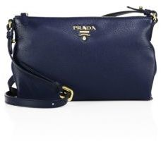 Prada Vit Daino Leather Crossbody Bag $1,060 thestylecure.com