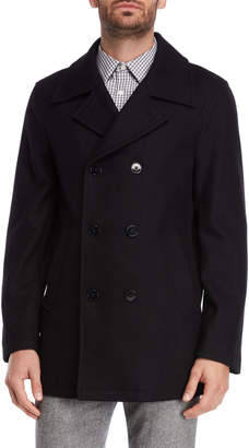 Calvin Klein Black Double-Breasted Overcoat