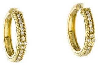 Judith Ripka 18K Diamond Hoop Earrings