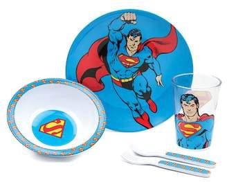 Bumkins Superman 5-Piece Mealtime Set
