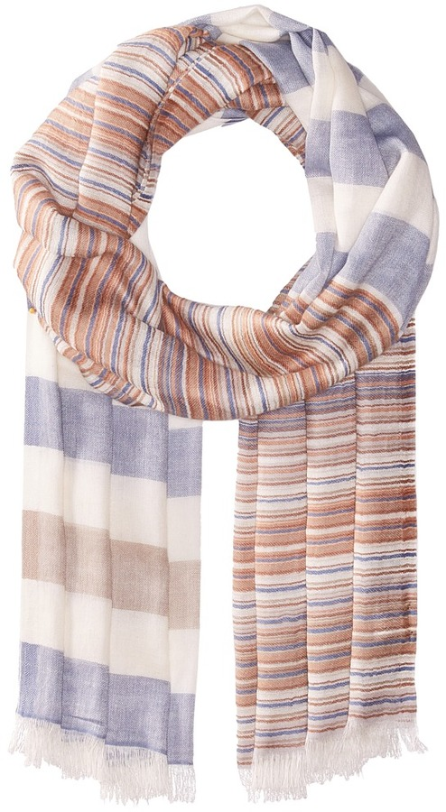 Echo Design - Multi Stripe Wrap Scarf Scarves