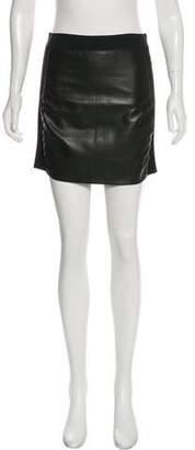 Mason Mini Leather Skirt