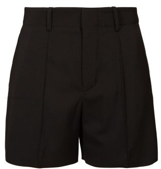 Chloé High Rise Tailored Crepe Shorts - Womens - Black