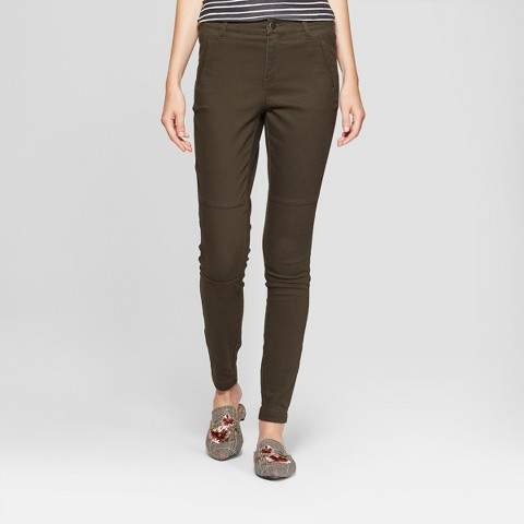 A New Day Women's Skinny Utility Chino Pants - A New Day Olive