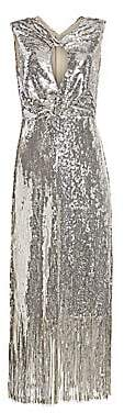 Rachel Comey Women's Petra Keyhole Sequin Fringe Midi Dress